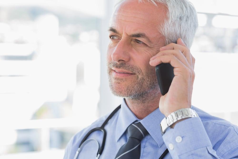 Handsome doctor calling