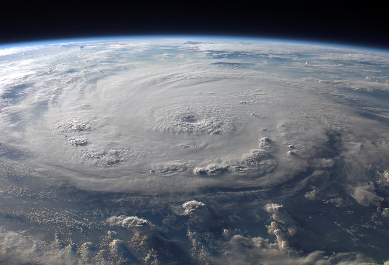Hurricane image from space