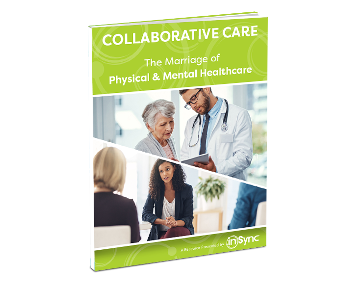 This is the cover of the whitepaper, Collaborative Care: The Marriage of Physical & Mental Healthcare