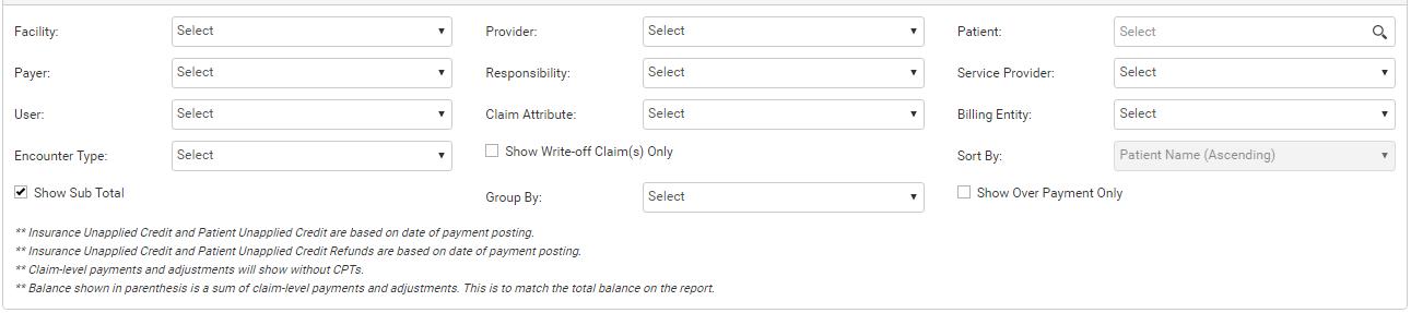 filter criteria - february release
