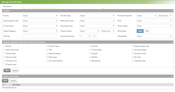 business rules engine beta screen capture