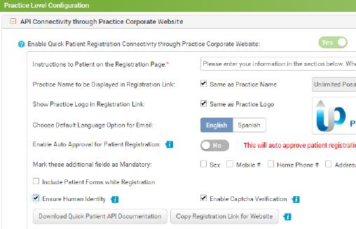 Identify Verification Through API and Quick Patient Registration